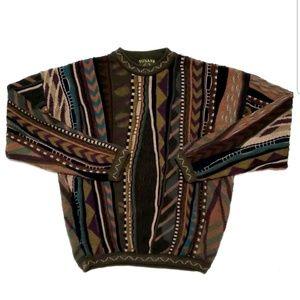 Tosani Mens Sweater Vintage Canada Crewneck Cosby
